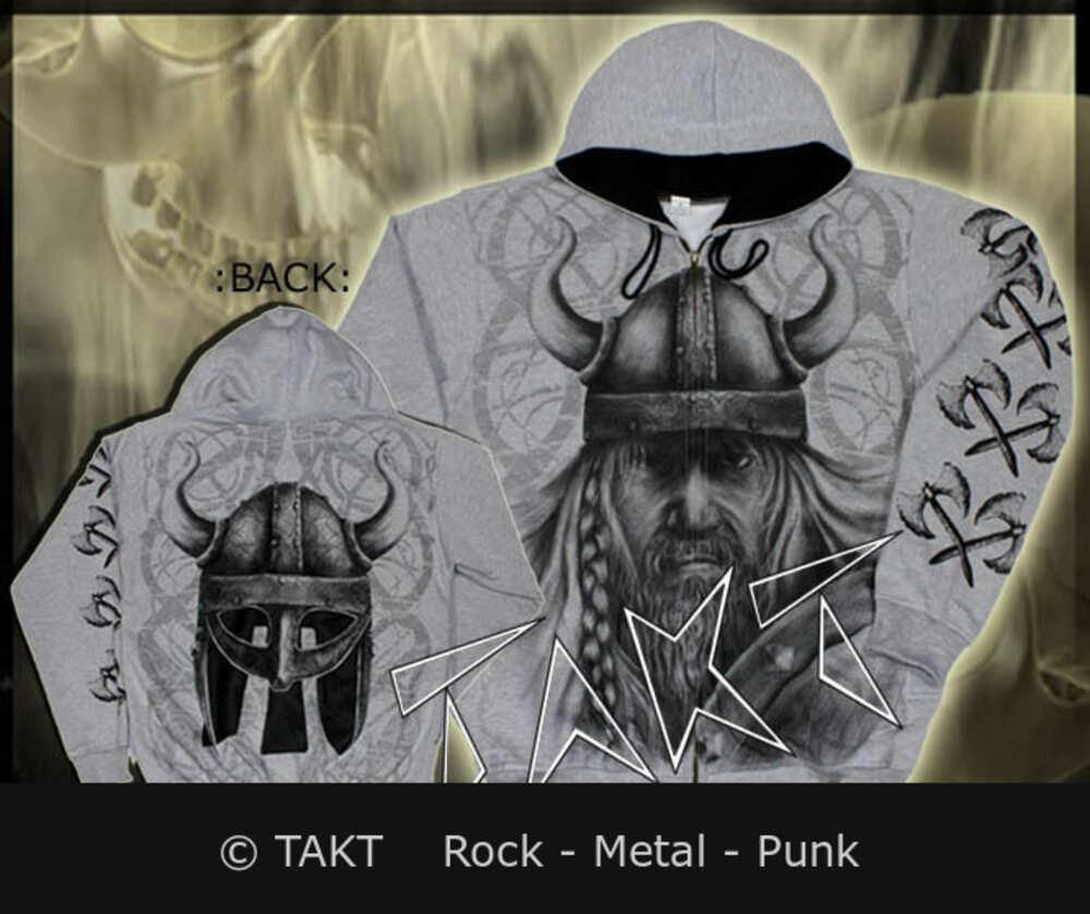 Mikina se zipem Viking 6 - warrior Grey