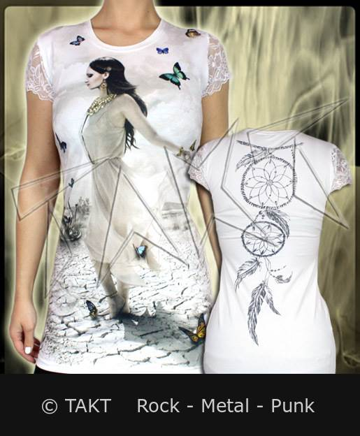 Tunika Butterfly Lady All Print White