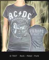 Dámské tričko Ac/ dc - for Those About To Rock Grey