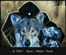 Mikina se zipem Wolf Blue All Print.