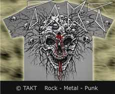 Tričko Blood Skull All Print Grey