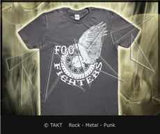 Tričko Foo Fighters - winged Whell Imp. Grey 9e1a6db39e