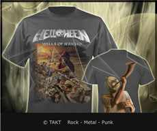 Tričko Helloween - walls Of Jerycho Imp.  Grey