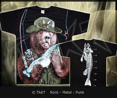 Tričko Fishing Bear All Print
