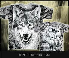 Tričko Wolf Forest All Print Grey