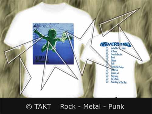 Tričko Nirvana - Nevermind Imp.  White T - Shirt